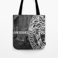 versace Tote Bags featuring versace 3 by Beauti Asylum