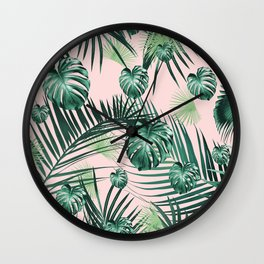Tropical Jungle Leaves Garden #2 #tropical #decor #art #society6 Wall Clock