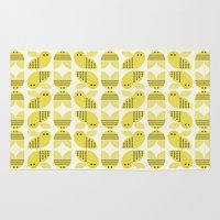 bee Area & Throw Rugs featuring Bee  by huemula