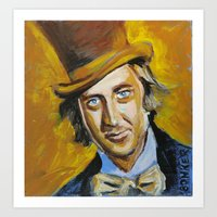 willy wonka Art Prints featuring Willy Wonka by Buffalo Bonker