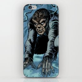 The Wolf Man in Winter iPhone Skin