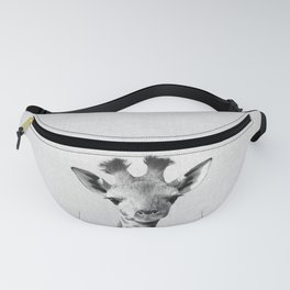 Baby Giraffe - Black & White Fanny Pack