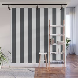 Grey and white stripes Wall Mural