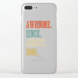 Awesome Since August 2008 10 Year Old Vintage Gift Clear iPhone Case