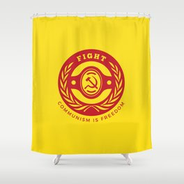 Fight For Freedom Communist Shower Curtain