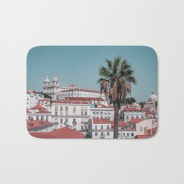 Alfama Lisbon and the palm tree Bath Mat