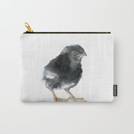Barred Rock Chick Watercolor Carry-All Pouch