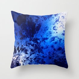 Blue Marble Dream Abstract Throw Pillow