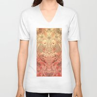 koi V-neck T-shirts featuring koi by Monty