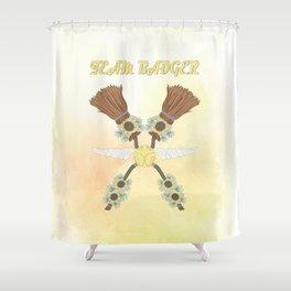 Team Badger Shower Curtain