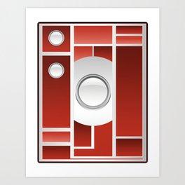 Art Deco Camera Art Print