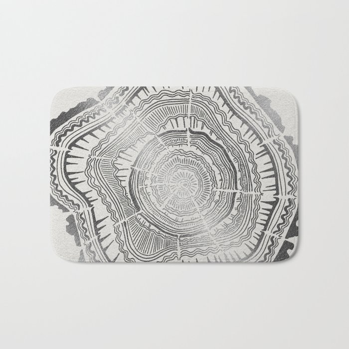 Growth Rings – 65 Years – Silver Bath Mat