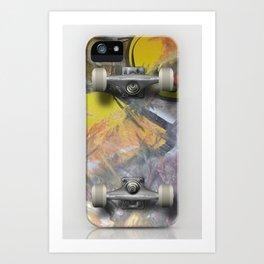 Iskate Skateboard deck case Art Print