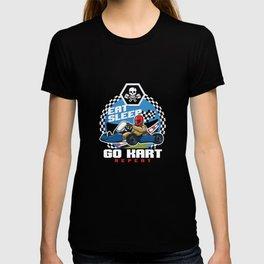 Eat Sleep Go Kart Repeat Karting Motorsport Flat Track Road Racing Racer Gifts T-shirt