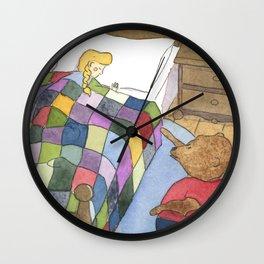 Goldilocks Caught Sleeping Wall Clock