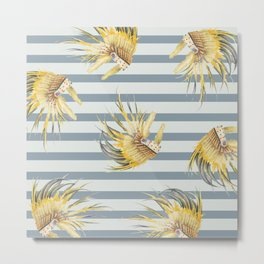 Feather line Metal Print