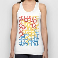 rectangles in primary colours Unisex Tank Top