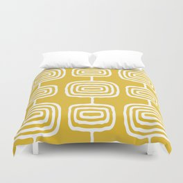Mid Century Modern Atomic Rings Pattern 771 Mustard Yellow Duvet Cover