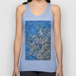 Blossom and Blue Sky In Monet Style Unisex Tank Top