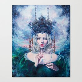 Self-Crowned Canvas Print