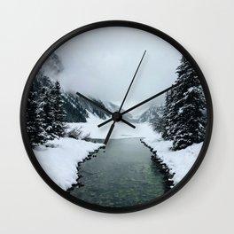Winter Stream Wall Clock