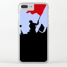 Les Miserables Minimalist Revolution Clear iPhone Case