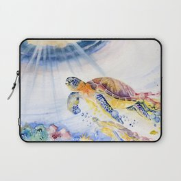 Going Up Sea Turtle Laptop Sleeve