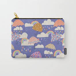 Spring Rain with Umbrellas Carry-All Pouch