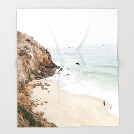 Malibu California Beach Throw Blanket