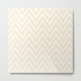 Chevron Wave Bisque Metal Print