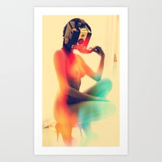 SEX ON TV - LUNAR by ZZGLAM Art Print