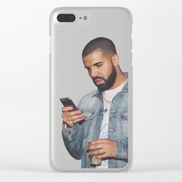 drake text Clear iPhone Case