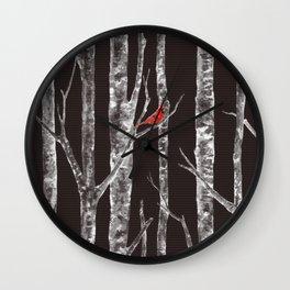 Lone Cardinal Wall Clock