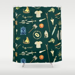 Lord of the pattern green Shower Curtain