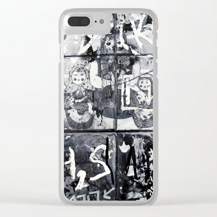 Russian Graffiti on the Arbat Clear iPhone Case