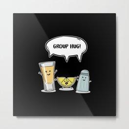 Tequila Best Friends Design Metal Print