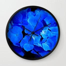 Deep Blue Hydrangea Wall Clock