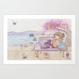 Monsters in the park Art Print