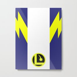 Minimalist Legion of Super-Heroes Poster - Lightning Lass Metal Print
