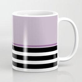 Black + White Stripe & Mauve Coffee Mug