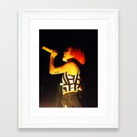 hayley williams Framed Art Prints featuring Hayley Williams by Alex King