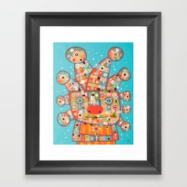 Clown with Flower Framed Art Print
