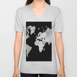 Design 70 world map Unisex V-Neck