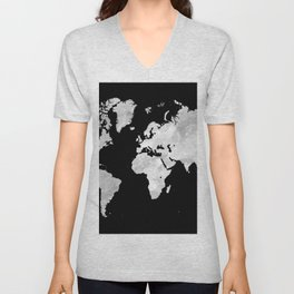 Design 70 world map Unisex V-Neck