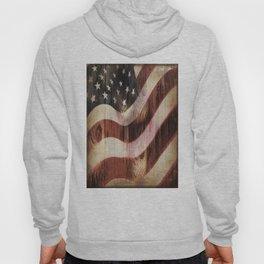 AMERICAN FLAG WOODEN Hoody