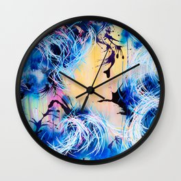 Falling Towards The Sky Wall Clock