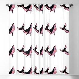 Ballena de flores Blackout Curtain