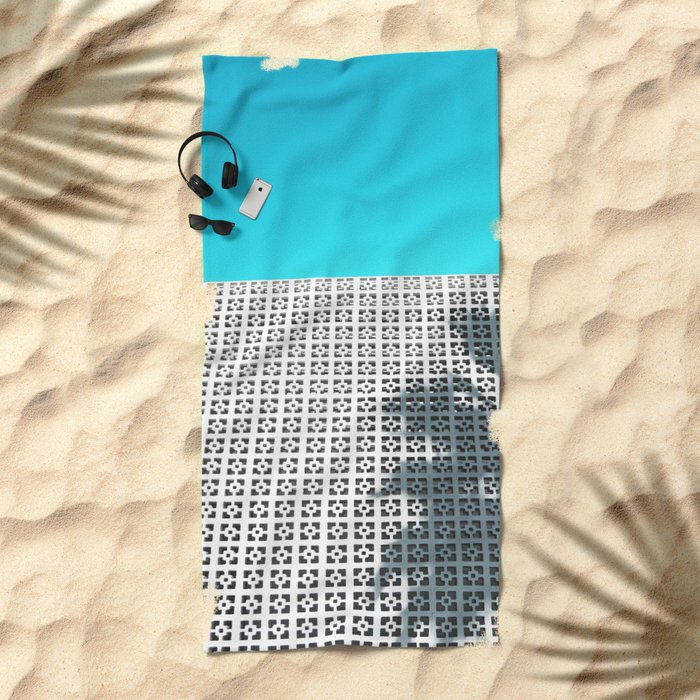Parker Palm Springs with Palm Tree Shadow Beach Towel