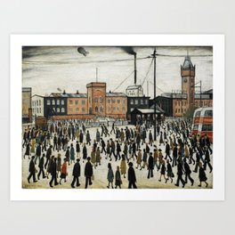 Going To Work L.S Lowry Art Print