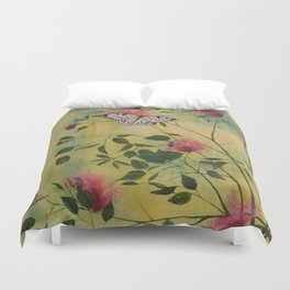 Rice Paper Butterfly Duvet Cover
